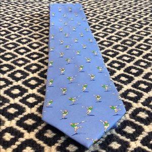 Bird Dog Bay Lacrosse Tie Blue Silk
